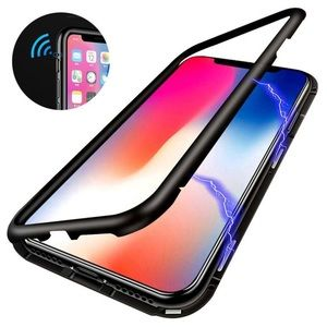 Magnetic Bumper Case with glass screen protector